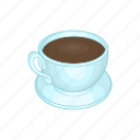 cafe, cartoon, coffee, cup, drink, espresso, sign icon