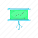 board, business, cartoon, chart, element, sign, statistics icon