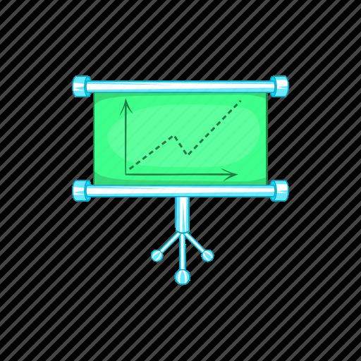 board, business, cartoon, chart, element, sign, statistics icon