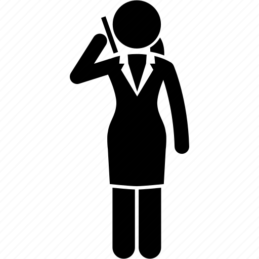 business, businesswoman, cellphone, handphone, office, phone, woman icon