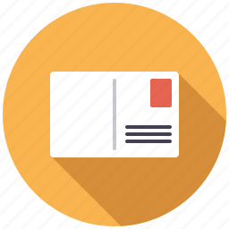 business, mail, message, office, postcard icon