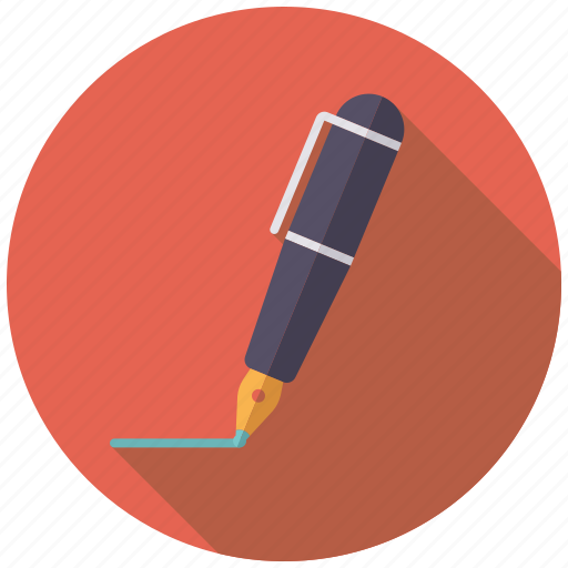 business, fountain pen, ink, office, pen, signature, writing icon