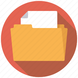 business, document, file, filing, folder, manila folder, office icon