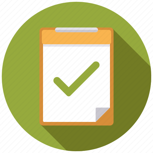 approval, business, checklist, checkmark, clipboard, office icon