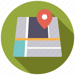 business, location, map, marker, navigation, office, travel icon