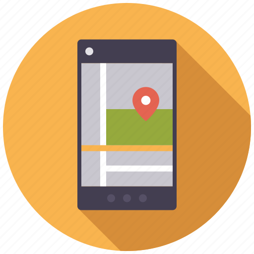 business, location, map, navigation, office, smart phone, travel icon