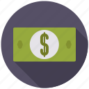 business, cash, currency, dollar bill, finance, money, office icon