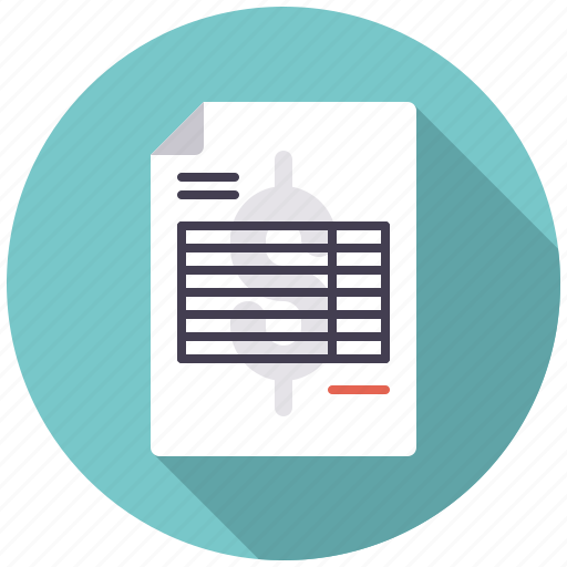 accounting, bill, business, document, invoice, office, receipt icon