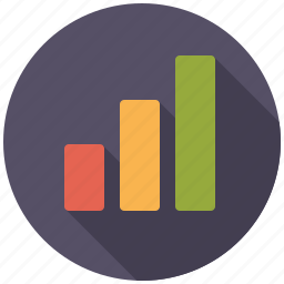 bar graph, business, increase, infographics, office icon