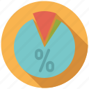 business, infographics, office, percent, pie chart, share, statistics icon