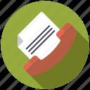business, communication, document, facsimile, fax machine, office, telecom icon
