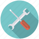 business, office, screwdriver, settings, tools, wrench icon