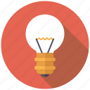 business, creativity, ideas, light, light bulb, office icon