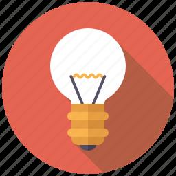 business, creativity, ideas, light, light bulb, office icon