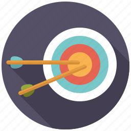 aiming, arrows, business, office, targets icon