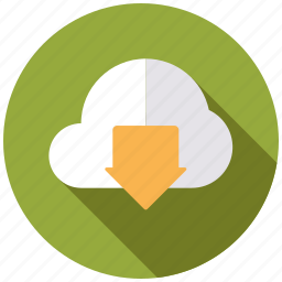 business, cloud, download, office, storage icon