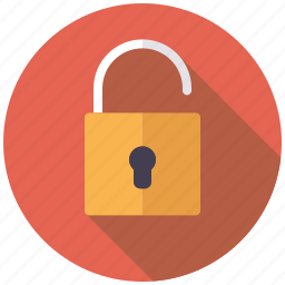business, insecure, lock, office, open, security icon