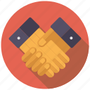 approval, business, contract, hands, handshake, office icon
