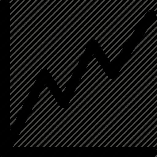 analytics, chart, diagram, line, linechart, statistic icon