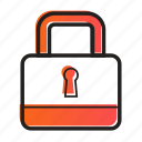 bussiness, encryption, lock, media, security icon