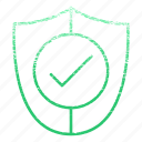 accept, checkmark, protect, safe, secure, security, shield icon