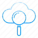 cloud, search, see, view, wheather icon