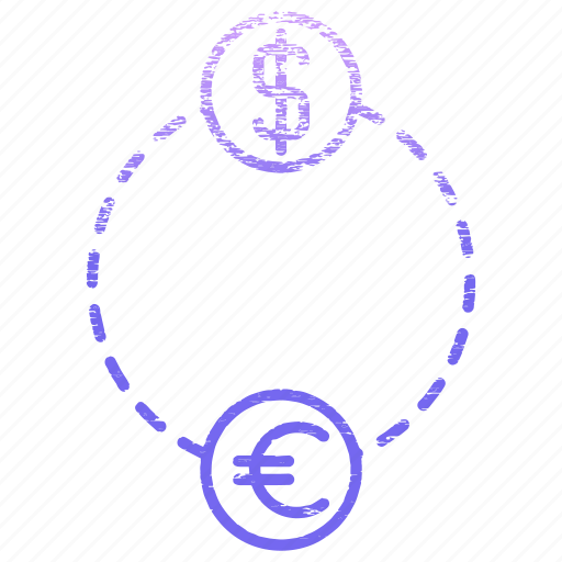 currency, dollar, euro, exchange, finance, money icon