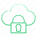 cloud, data, safe, security, storage icon