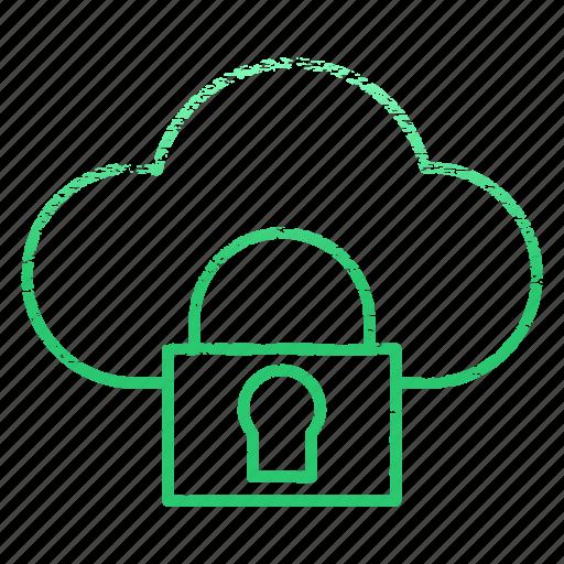 cloud, data, safe, security, storage icon