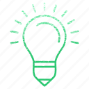 energy, idea, lamp, light, seo icon