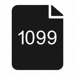 1099, contractor, document, form, independent, tax icon
