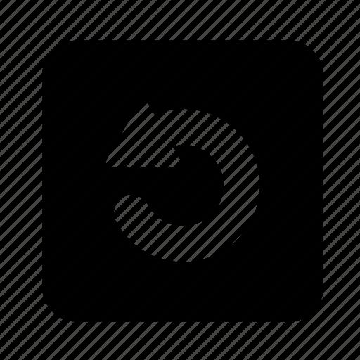 arrow, audio, multimedia, play, rotate, video icon