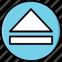 button, eject, media, multimedia icon