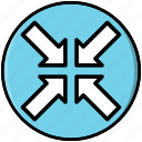 arrow, minimize, reduce, resize