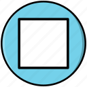 button, multimedia, player, stop icon