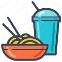 chopstick, delivery, fastfood, food, lunch, noodle icon