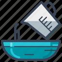 delivery, food, jug, measuring jug, mug, online, pour icon