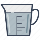 food, jug, liquid, measuring jug, scale, water icon