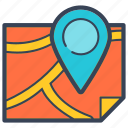 delivery, direction, home, location, map, online, road icon