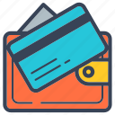 business, credit card, delivery, online, pay, transaction, wallet icon