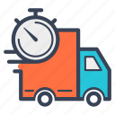 delivery, fast, logistic, lorry, online, time, transportation icon