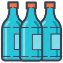 bottles, drink, food, shopping, soft drink icon