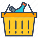 basket, business, delivery, food, full, online, shopping icon