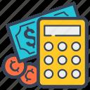 account, bank, calculator, cash, cent, dollar, money icon