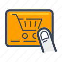 business, buy, cart, delivery, food, online, shopping icon