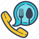 buy, call, delivery, food, online, phone icon
