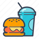 burger, delivery, drink, fast food, food, junk food, lunch icon