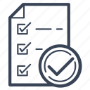 approved, checklist, document, list, office, paper, sheet icon