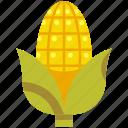 corn, crops, food, healthy, meal icon
