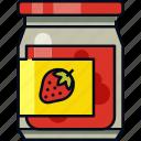 food, fruit jam, jam, jar, jelly, strawberry, sweet icon